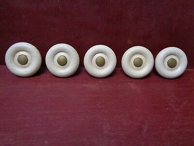 5 More Avail Vintage Nos Mid Century Wood Cabinet Drawer Chest Dresser Knobs #03