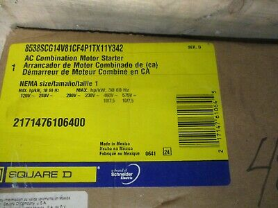 Square D Size 0 Fusible Combo Mag Starter- New