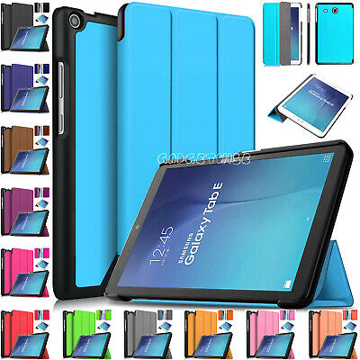"""Magnetic Leather Smart Stand Cover For Samsung Galaxy Tab E 9.6"""" SM-T560 SM-T561"""