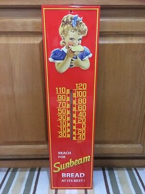 Sunbeam Bread Thermometer Sandwich Food Advertising Vintage Style Wall Decor