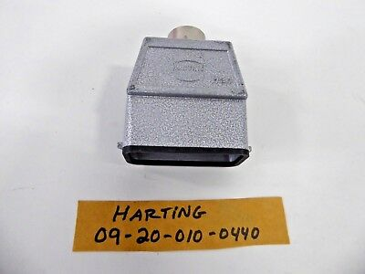 Harting 09-20-010-0440 Han Metal Hood Power Connection Heavy Duty 10A PG16 *