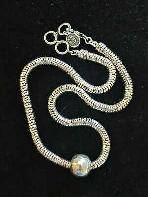 Silpada 925 Sterling Silver Thick Chain Chic Large Bead Ball Necklace Pendant