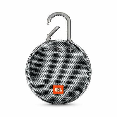 JBL Clip 3 Portable Waterproof Bluetooth Speaker Gray  *Authorized Dealer*