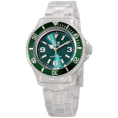 Ice-PURE Green Dial Plastic Strap Unisex Watch PU.FT.S.P.12