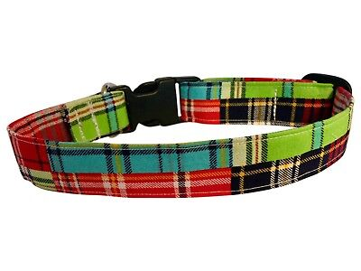SPIFFY POOCHES Dog Cat Puppy Collar PREPPY PLAID ~BUY 1 GET 1 50% OFF~