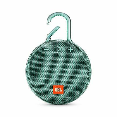 JBL Clip 3 Portable Waterproof Bluetooth Speaker Teal *Authorized Dealer*