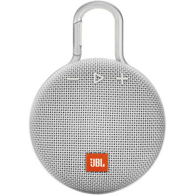 JBL Clip 3 Portable Waterproof Bluetooth Speaker White *Authorized Dealer*