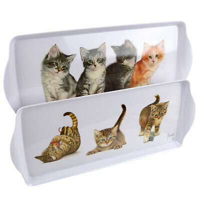 New Cute Kittens Melamine Small Sandwich Tray Cat Artist Francien Playful Gift