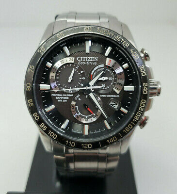 Citizen Men's Eco-Drive AT4008-51E Perpetual Chrono A-T Date Watch DEFECT