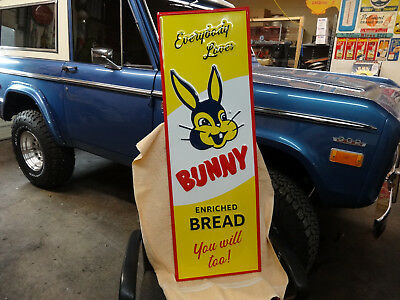 Nice Bunny Bread Sign Embossed
