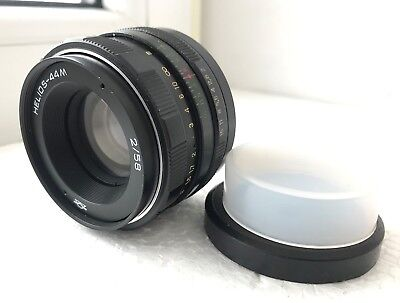 Helios 44M lens 1981 year film camera M42 mount Good condition + adapter