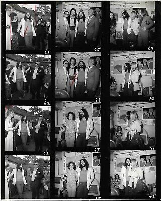 VINTAGE Black & White CONTACT SHEET with PETER MAX & FRIENDS NEW YORK CITY PICS