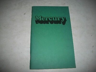 Nos 1974 Full Size Mercury Owner Operators Manual French Language  Clean Marquis