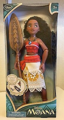 """Disney Store Exclusive Authentic Moana Classic 11/"""" Inch Doll New"""
