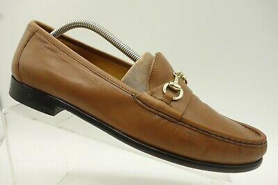 Cole Haan Brown Leather Dress Casual Horsebit Slip On Loafer Shoe Mens 10 M