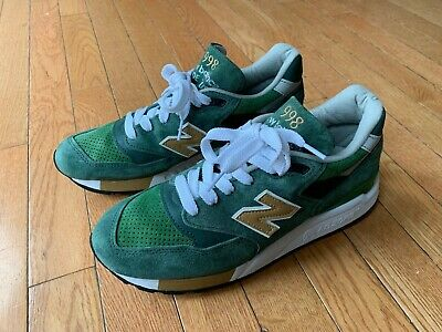 detailed look 52b1f 0658b J CREW X New Balance 998 Size 7 Green tan white Abzorb Suede