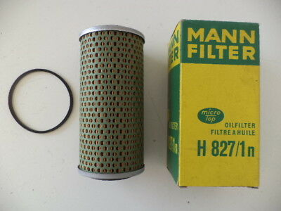 Mann H827/1N Replaceable Oil Filter Dodge K,jaguar E,mf 100, Perkins 4-Series.