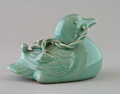 Korean celadon duck suiteki water dropper vintage