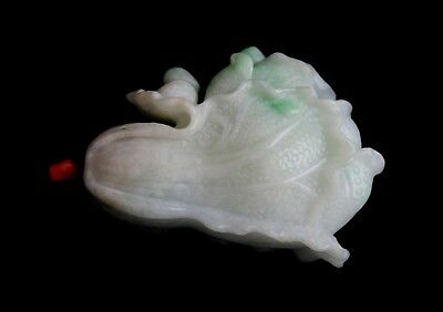 Jadeite Jade type A Snuff bottle w. coral stopper