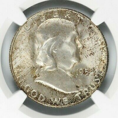 NGC MS65 1954-S Franklin Silver Half Dollar 50C - Minted In San Francisco