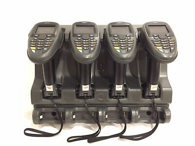 4 x Motorola Symbol MT2070 Barcode Bluetooth Stocktake 1D Scanner Rugged +Cradle
