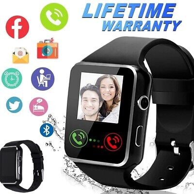 X6 Bluetooth Smart Watch Bracelet SIM Touch Screen With Camera IOS Android Phone