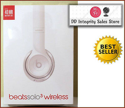 NEW SEALED Beats Dre Solo3 GLOSS WHITE Wireless Headphones Solo 3 FAST SHIPPING