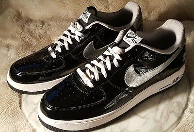 NIKE AIR FORCE 1 Mens 15 Black Patent Low AF1 Sneakers 2010 All Star Game Texas
