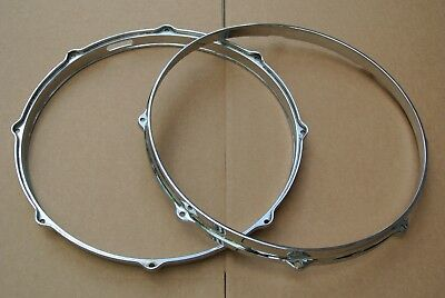 """1960's GRETCH 14"""" 8-LUG DIE-CAST SNARE DRUM HOOPS for YOUR DRUM SET! LOT #M86"""