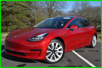 2018 Tesla Model 3 3MR RED OVER BLACK ONLY 10K MILES SHOWROOM CONDITION! RWD NAVIGATION REAR CAM CLEAR VIEW ROOF LEATHER HEATED SEATS BLUETOOTH + MORE!