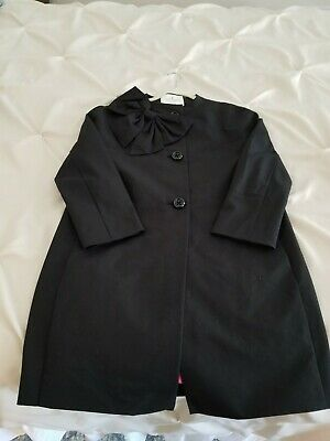 5909fac4f KATE SPADE NEW YORK Kendall Black BOW Button Front SILK BLEND Jacket Coat  XS NEW