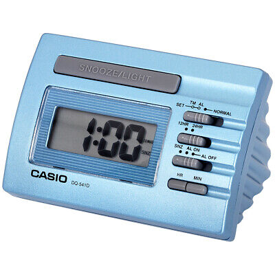 Casio Blue Digital Desk Alarm Clock With Snooze DQ541D