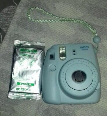 Fujifilm Instax Mini  Ice Blue Instant Color Film Camera - Great For Parties