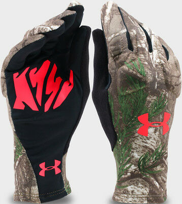 8f085daf43131 NWT Under Armour Women's Scent Control 2.0 Liner Gloves Camo Hunt Touch  Screen