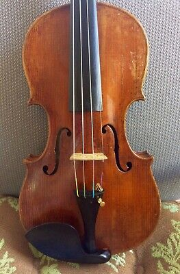 Beautiful Old antique unlabeled 4/4 violin c. 1800's