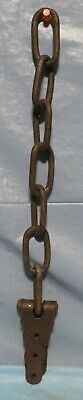 Vintage Rusty Steel Chain Metal W/Hinge Steampunk Country Garden Decor