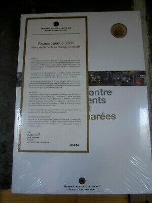 2006 Royal Canadian Mint Annual Report  50 Cent selectively gold plated  sealed