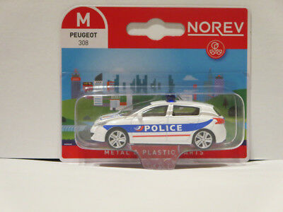 Norev Minijet 1:64 Peugeot 308 Police Nationale Blister Brand new. 3 inches