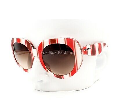 41c0f530936c DOLCE   GABBANA DG 4191P 2722 13 Retro Sunglasses Catwalk Stripes ~ 50mm