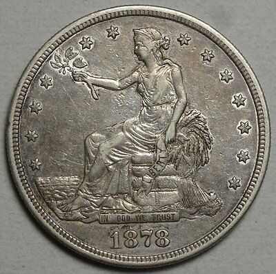 1878-S Trade Dollar, Choice Extremely Fine, Classic Type Coin   0502-04