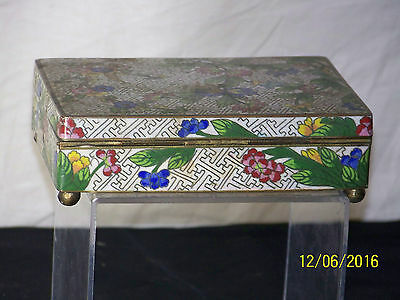 Chinese Early c20th Century Cloisonne Sectional Storage Jewelry Box