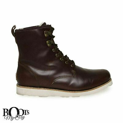 d44a85aa8c8 UGG HANNEN TL Cordovan Waterproof Leather Men Sheepskin Boots Size Us 8 New