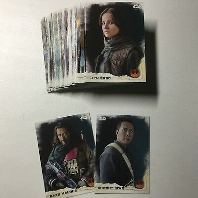STAR WARS: ROGUE ONE SERIES 1 Topps 2016 Base Set 1-90 w/wrapper Vader, Jyn Erso
