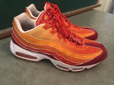 buy popular 48ce9 db137 Exc Nike Air Max Mens 2006 Running Shoes Size 10 Orange Yellow Fire