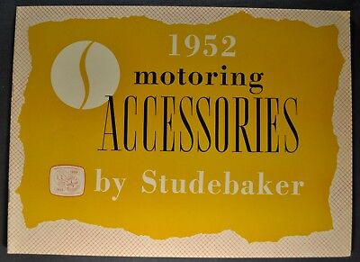 1952 Studebaker Accessories Brochure Commander Champion Excellent Original 52