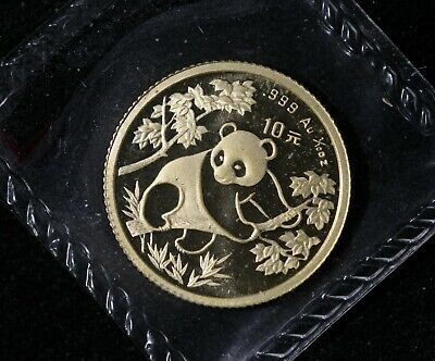 1992  China Panda Gold 1/10 oz G10Y OMP