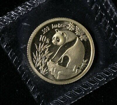 1993  China Panda Gold 1/10 oz G10Y OMP