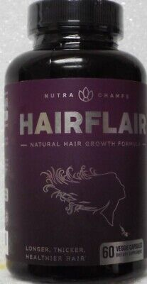 NutraChamps HairFlair Natural Growth Formula Dietary Supplement - 60 Capsules
