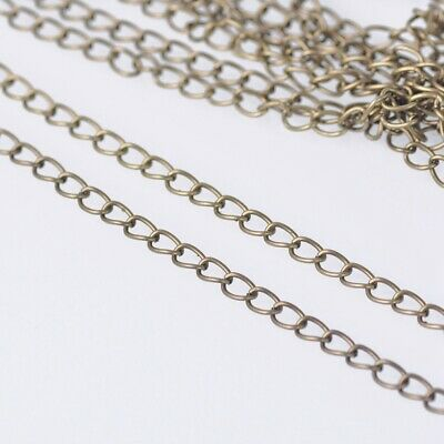 1.8mm Wide 100m Long Bronze Color Metal Jewelry Making Extension Open Link Chain