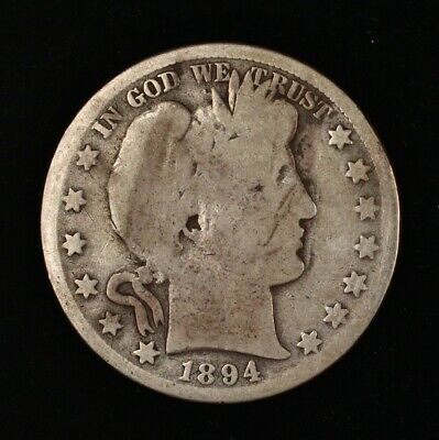 1894 Barber Half Dollar Silver US Coin 50c BETTER EARLY DATE